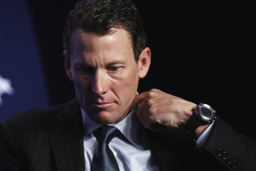 File photo of Lance Armstrong taking part in a special session regarding cancer in the developing world during the Clinton Global Initiative in New York