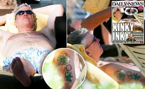 Rex Ryan tattoo of Mark Sanchez january 4