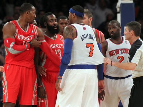 Knicks and Rockets get testy